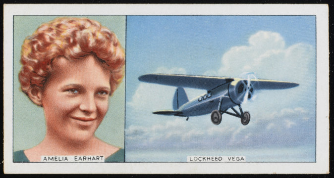 Earhart - Lockheed Vega. Date: 1897 - 1937
