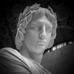Ancient roman sculpture of the emperor