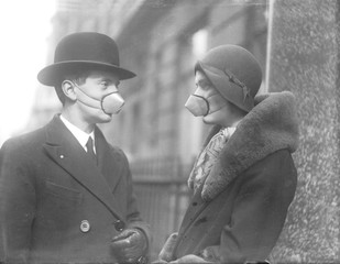 Anti-Flu Masks. Date: 1920s