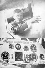Lindbergh in Plane. Date: 1927