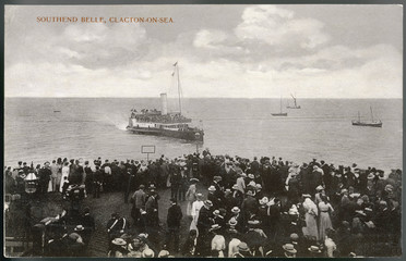 Southend Belle Steamer. Date: 1905
