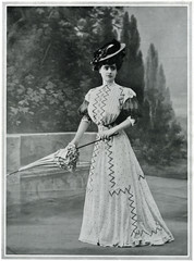 Parisian woman wearing picture hat 1907. Date: 1907