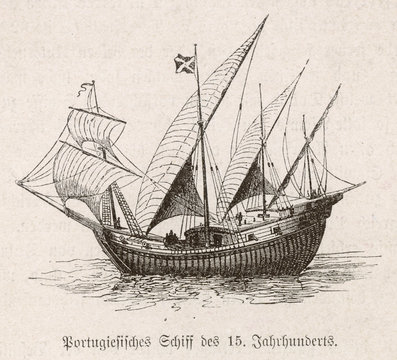 Portuguese caravel     . Date: 15th century