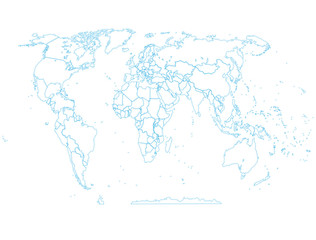 map political abstract of the world