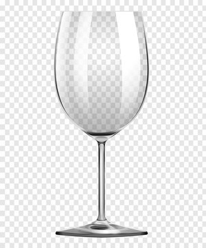 Wine Glass on transparent Background vector concept