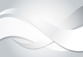 Silver gradient abstract line and wavy background