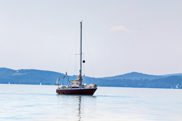 Yachts on lake Balaton, Siofok, Hungary