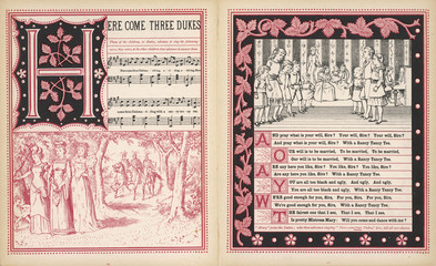 Here come three dukes  words and music. Date: 1886