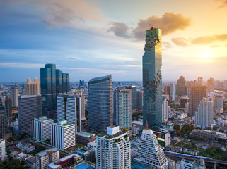 Bangkok view Beautiful is the new highest building in Bangkok with sky Beautiful ,Thailand