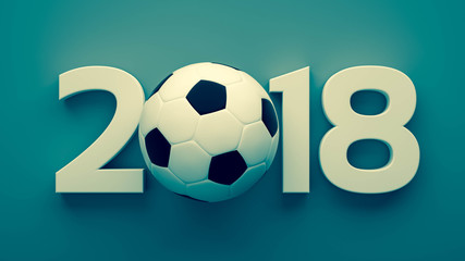 year of 2018 and soccer ball