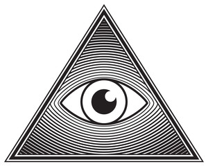 Triangle, eye, symbol, silhouette