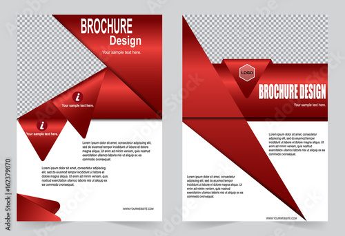 Red Brochure Template Flyer Design Stock Image And Royalty Free