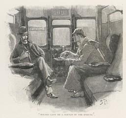 Holmes - Watson - Train. Date: 1892