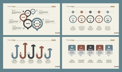 Four Workflow Slide Templates Set