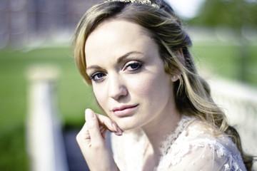 Wedding preparations, Portrait of bride, Dorset, England