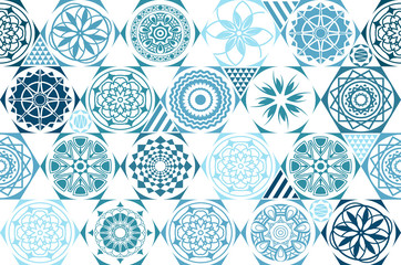 retro mint vector seamless patterns. tiling. Endless texture can be used for wallpaper, pattern fills, web page background,surface textures. Set of monochrome geometric ornaments. vintage