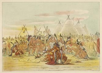 Assineboin Pipe Dance. Date: circa 1830