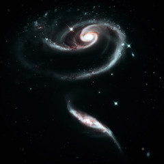 A Rose Made of group of galaxies Arp 273 in the Andromeda. Elements of this image furnished by NASA