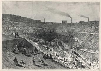 Zinc Mines in Silesia. Date: 1869