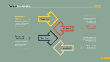 Business Arrow Diagram Slide Template
