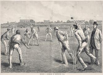 England V Australia. Date: late 19th century