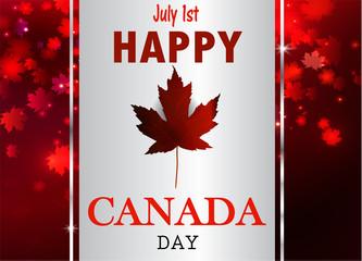 Happy Canada Day background