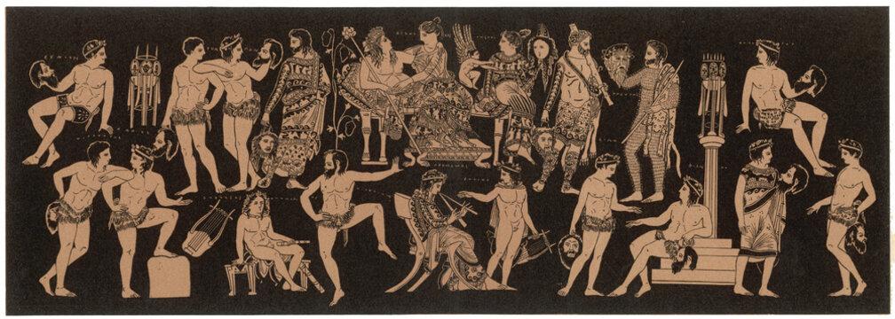 Dionysos at a Feast
