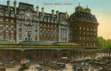 Wall Mural - Victoria Station Exterior. Date: circa 1908