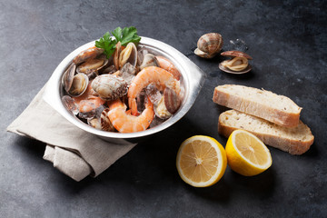 Poster Coquillage Fresh seafood