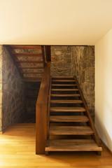 Vintage wood stairs