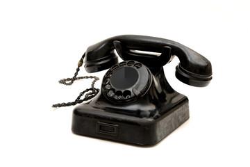 Vintage Telephone Set Isolated on White