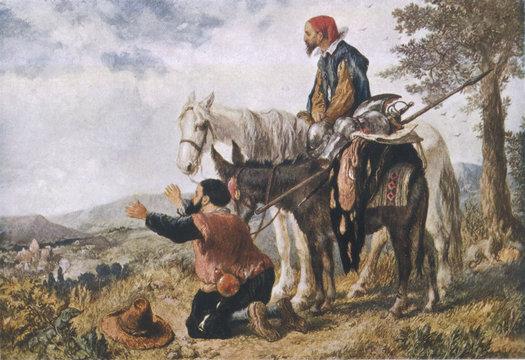 Return of Don Quixote and Sancho Panza. Date: 1605-1615