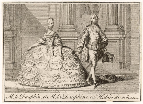 Louis XVI and Marie Antoinette in wedding costumes. Date: 1770