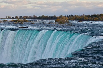 Beautiful background with amazing powerful Niagara waterfall