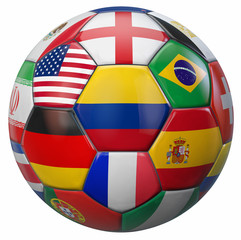 International Football Illustration with Colombia Flag in the Middle