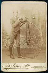 Penny Farthing Photo. Date: 1880s