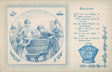 Bobbing for Apples. Date: 1886