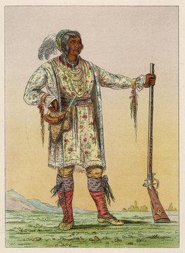 Osceloa - Seminoles - Catlin. Date: 1804 - 1838