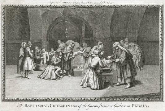 Zoroastrian Baptism. Date: 1726