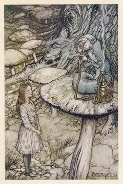Alice - the Caterpillar. Date: 1865
