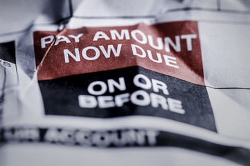 Consumer Credit Debt Payment Now Due Crumpled Notice