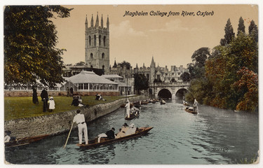 Punting in Oxford. Date: circa 1905