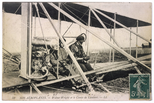 Wilbur Wright - Plane. Date: 1909