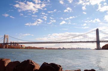 Image of George Washington Bridge at Twilight. New York.