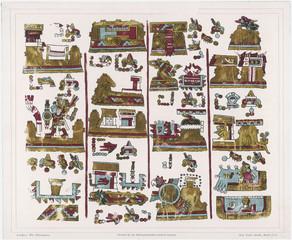 Zapotec Manuscript. Date: pre-Columbus