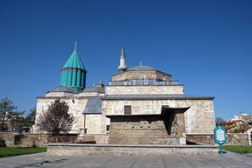 Mevlana museum and mosque in Konya, Turkey