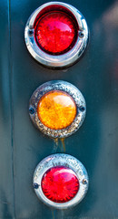 The old tail lights of antique car