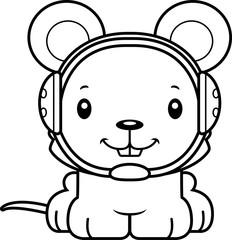Cartoon Smiling Wrestler Mouse