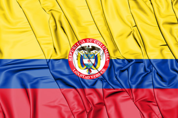 3D President of Colombia standard.