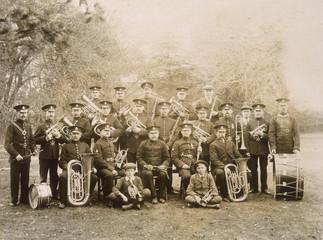 Brass Band Photo 1900. Date: circa 1900